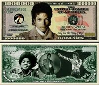 MICHAEL JACKSON - BILLET de Collection ONE MILLION DOLLAR ! COLLECTOR MICKAEL