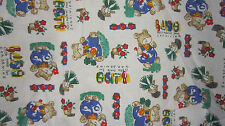 White Pleated Front Scrub Top with Gardening Bears Medium