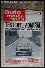 AMS Auto Motor Sport 13/66 Austin  Cooper S 1300 Opel Admiral Automatik