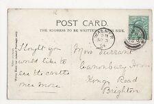 Walmer 1904 Postmark on Walmer Castle Postcard, A863