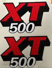 YAMAHA XT500 XT500G PETROL TANK DECALS