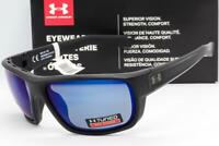 NEW UNDER ARMOUR LAUNCH SUNGLASSES Black/Offshore Tuned Blue Polarized Fishing