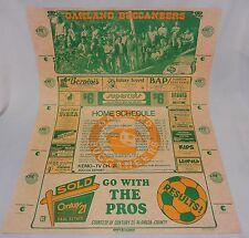 RARE Vtg. 1976 Oakland Buccaneers Soccer Poster/Schedule * Berkeley CA