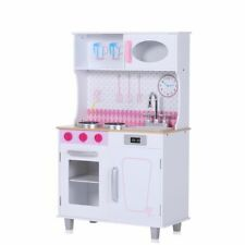 Kids Wooden Play Kitchen Children Cooking Pretend Role Play Culinary Baby Vivo