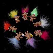 Poupée Troll avec Cheveux Porte-bonheur Mini figurines Décoration Chambre