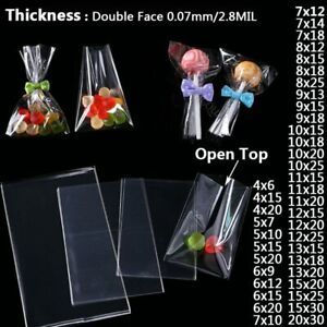 Cellophane Transparent Cookie Packaging Candy Bag Sweets Pocket Lollipop Pouch