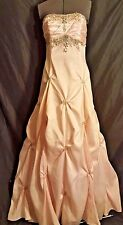 Masquerade Soft Pink Long Dress Gown Jewels Beads Taffeta Prom Pageant 11/12