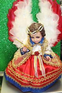 Niño Dios con Vestido Niño Dios ArcAngel San Miguel Corazon y Silla