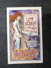 "Limp Bizkit Kid Rock Staind Concert Poster Philadelphia 13"" X 21"" Original !"