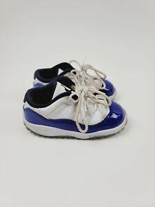 Air Jordan 11 Retro Low TD 'Concord Sketch' 6451107-100 SIZE 8C Toddlers