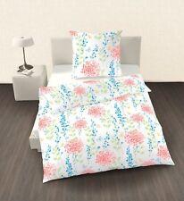 Ido Percale Linge de Lit 2 Parties Fleurs Colorées 135x200 cm (80x80 cm)