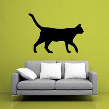 Home Decor Removable Art Vinyl Decal Cat Wall Sticker Girls BedRoom Black Kitty