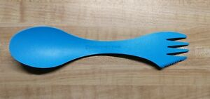 1 LIGHT MY FIRE Spork Spoon Fork Knife Combo Utensil Camping BLUE