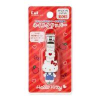 Hello Kitty nail clipper Heart Sanrio x Kai Japan F/S NEW kawaii Cute