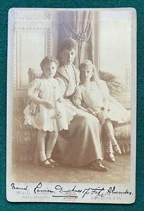 Antique Signed Photo Daughter King Edward Princess Louise Duchess Fife Children