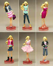 NEW 6PCS BARBIE ACTION FIGURES PLAY SET KID GIRL FIGURINES DOLL TOY CAKE TOPPER
