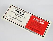 Bel COCA-COLA coupon USA 1970er-free Six Bottle carton