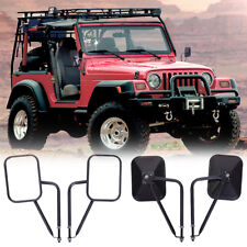 2 X Jeep Side View Mirror Wrangler JK TJ 96-17 Door off Rear Rectangular Hinge