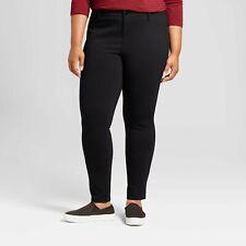 Ava & Viv Womens Plus 26W Jeans Black Stretch Skinny Mid Rise Pants