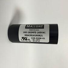 160-192uf MSA2R16160R Mallory Motor Start Capacitor 165VAC suit 240VAC motors