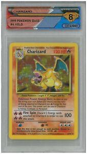 1999 Pokémon Base CHARIZARD #4 Holo 💎 DSG 8