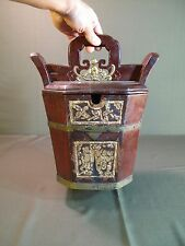 Old Chinese Wooden Food Container Box with Handle