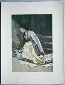 ca.1895 French photochrom MINGRELIAN WOMAN AT SPRING, GEORGIA, CAUCASUS (#332)