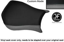 Gris y Negro personalizado de vinilo cabe DUCATI Monoposto 748 916 996 998 Cubierta de asiento solamente