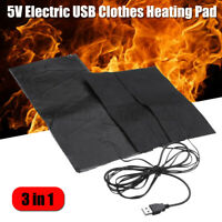 Electric USB Jackets Clothes Heating Pad Vest Heat Jacket Outdoor Warmer Heater