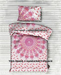 Indian Ombre Mandala Duvet Cover Twin Quilt Cover Cotton Bohemian Doona Cover