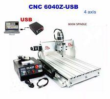 CNC 6040z 4 ASSI FRESATRICE VERTICALE INCISORE INCISIONE MACCHINA 4 ASSI
