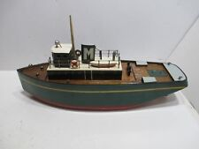 PETER MORAN TUG BOAT NEAR MINT CONDITION BATTERY OP WITH AUTOMATIC RUDDER