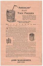 John Wanamaker's American Twin Freezer - Illustrated Advertisement, New York