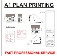 A1 Plans Printed: Building Plans Architectural Designs Line Drawings Schematics