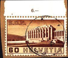 SVIZZERA - 1938 - Palazzo della Società Nazioni e del B.I.T. a Ginevra - 80 c.