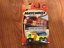MATCHBOX AIRPORT FIRE PUMPER #26 BRAND NEW!!!