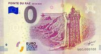 BILLET 0  EURO POINTE DU RAZ EN CAP SIZUN FRANCE   2018  NUMERO 100