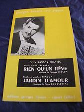 Partitur rien Qu'ein Rêve Garten d'amour von Georges Besson Tangos