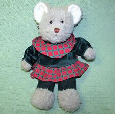 "VINTAGE COMMONWEALTH HOLLY TEDDY BEAR STUFFED ANIMAL 1994 CHRISTMAS PLUSH 12"""