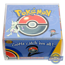 3 DISPLAY CASES for Pokemon Cards Booster Box STRONG 0.5mm Plastic Box Protector