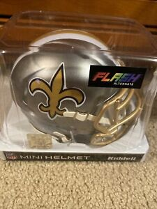 New Orleans Saints Flash Alternate Speed Mini Helmet Replica Riddell
