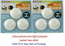 6-SET Self-Adhesive Door Knob Wall Protector Shield Guard Stopper