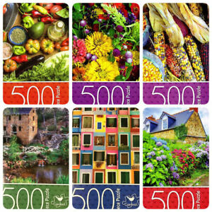 NEW Cardinal 500 Piece Jigsaw Puzzle Colorful Vegetables Garden Flower Toy Hobby