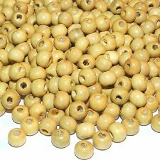 W657L2 Light Brown 8mm Round Rondelle Wood Beads 1oz Package (190/pkg)