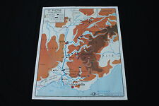 Affiche Scolaire vintage fleuve Rhône Isère Saône Garonne Lot Rossignol 90*75cm