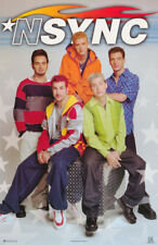 POSTER : MUSIC : N SYNC -  COLLAGE OF ALL 5    FREE SHIPPING    #7548    RP57 J