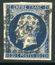 STAMP / TIMBRE FRANCE CLASSIQUE OBLITERE N° 14 BLEU FONCE