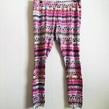 Mossimo Supply Co Plus Size Leggings Boho Tribal Multicolored XXL Cotton