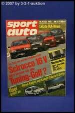 Sport Auto 9/85 Allrad Kadett VW Scirocco 16V 300 E AMG