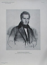 Friedrich Dahlmann - Originaldruck aus 1898 Porträt alter Druck old print